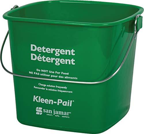 - San Jamar KP97GN Kleen-Pail Commercial Cleaning Bucket, 3 Quart, Green