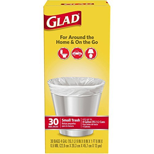 Glad 4 Gal. Small Garbage Bags 30 ct by Glad