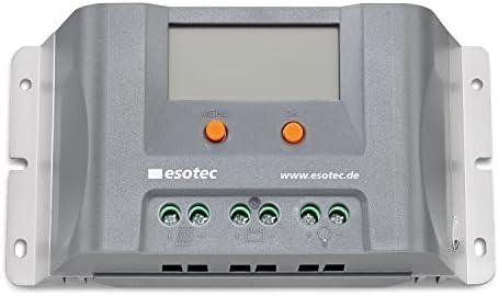 30A Solar Laderegler mit Display und USB für 12-24 V Solar Inselsysteme mit automatischer Erkennung, normaler Modus und zusätzlicher D2D Modus Außenbeleuchtung Solarregler Controller esotec 140006