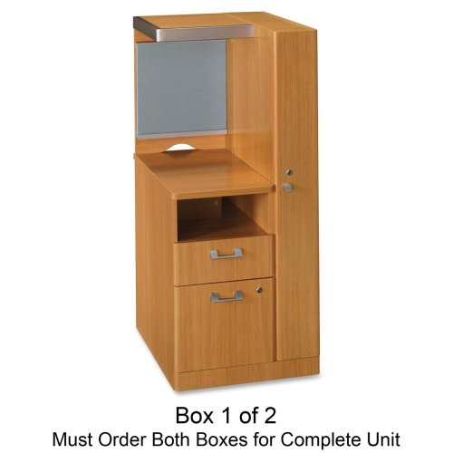 Quantum Modern Cherry Collection - bbf Quantum QT2826MC Right Storage Tower Box 1of 2 - 23.1
