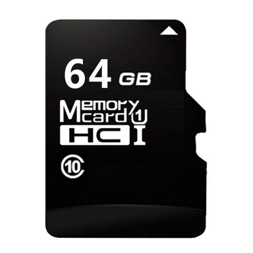 CAOMING 64GB High Speed Class10 Black TF (Micro SD) Memory Card by CAOMING
