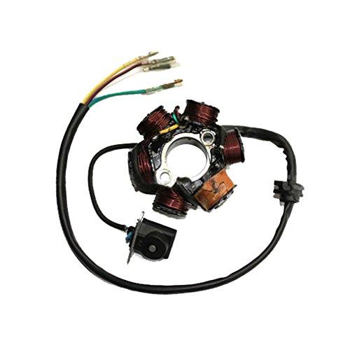 Atv Stator - GOOFIT 6-Coil Magneto Stator Ignition Generator for GY6 50cc 70cc 90cc 110cc 125cc Moped ATV Dirt Bike