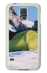 Samsung Galaxy S5 landscapes nature snow camp 13 PC Custom Samsung Galaxy S5 Case Cover White