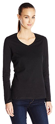 Champion Authentic Women's Jersey Long Sleeve T-Shirt_Black_M