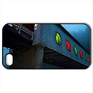 Covered-Bridge - Case Cover for iPhone 4 and 4s (Bridges Series, Watercolor style, Black)