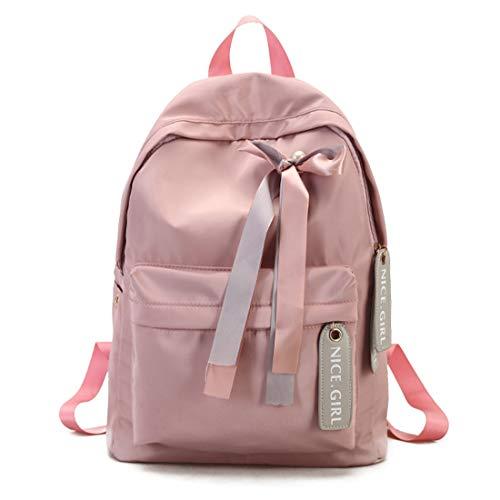 capacità Zaino vai impermeabile grande Haxibkena zaino a scuola donne per a rosa fare shopping zaini 00xF4wTq