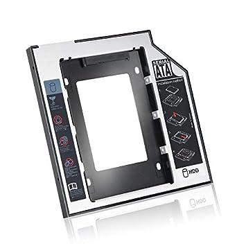 Pudincoco 9.5 mm de Aluminio Universal SATA HDD SSD Caddy de Disco ...