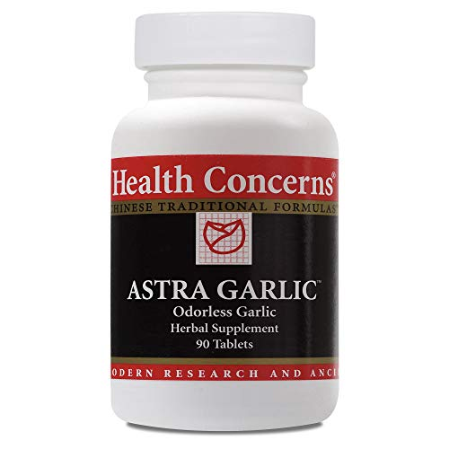 Health Concerns - Astra Garlic - Odorless Garlic Herbal Supplement - Supports Healthy Blood Flow - 90 Tablets