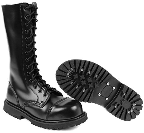 4b655ebc9e8c8b 14 Holes UK Gothic Boots Combat Boots  Amazon.co.uk  Sports   Outdoors