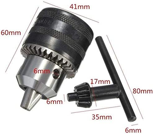 GJNVBDZSF Repair Kit 1.5 to 13mm Capacity Heavy Key Type Drill Chuck Adapter Fit for Rotary Hammer Drill Accessories