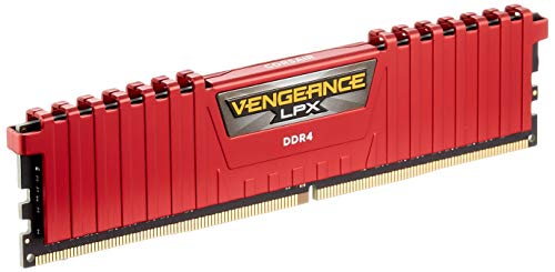 (Corsair Vengeance LPX 8GB DDR4 DRAM 2133MHz C13 Memory Red Kit for Systems)