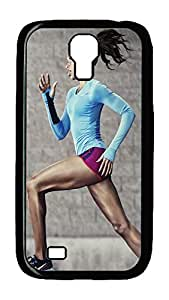 Samsung Galaxy S4 Case,Customize Ultra Slim Jogging Hard Plastic PC Blcak Case Bumper Cover for S4