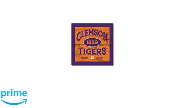 NCAA Fan Shop Clemson Tigers Legacy Table Top Square One Size Wood