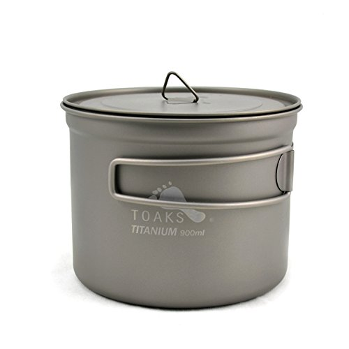 TOAKS Titanium 900ml Pot with 115mm Diameter by TOAKS