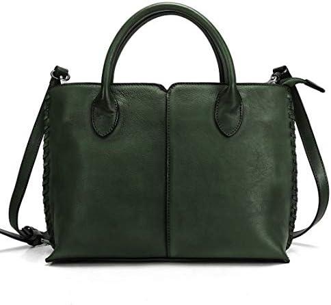Fei Studio Women Retro Leather Satchel Handbag Shoulder Bag Satchel Purse and Tote Handbags Ladies Weaving Bags