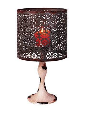 Attraction Design Metal Nostalgia Candle Holder Lamp, Cream