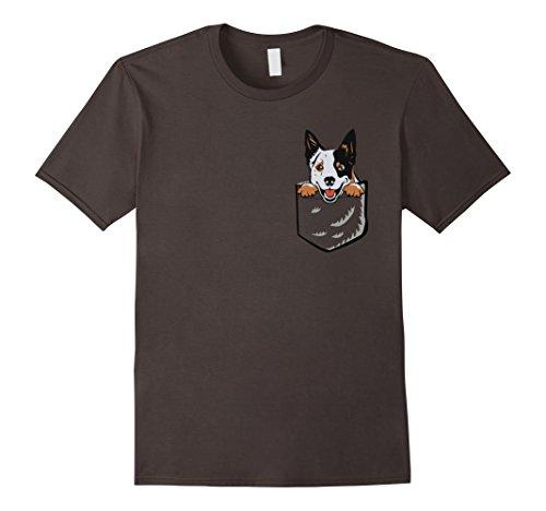 Mens Adorable Little Australian Cattle Dog In The Pocket T-shirt Medium Asphalt