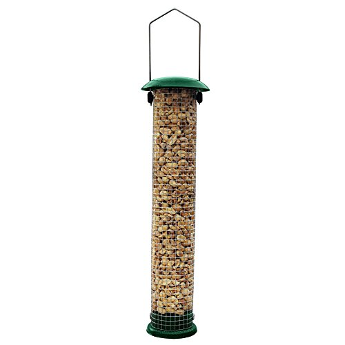 GrayBunny GB-6857 Premium Steel Sunflower Seed Feeder and Peanut Feeder, 15