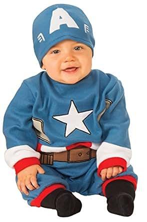 Amazon Com Rubie S Baby S Marvel Captain America Romper