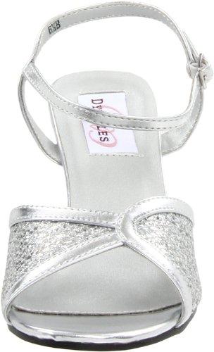 Sandalia brillo para DRE en con mujer tiras plateado y el Dyeables tobillo C5fqTxf