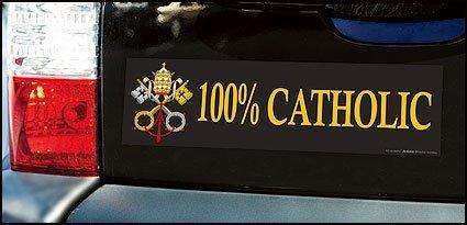 100% Catholic Bumper Stickers