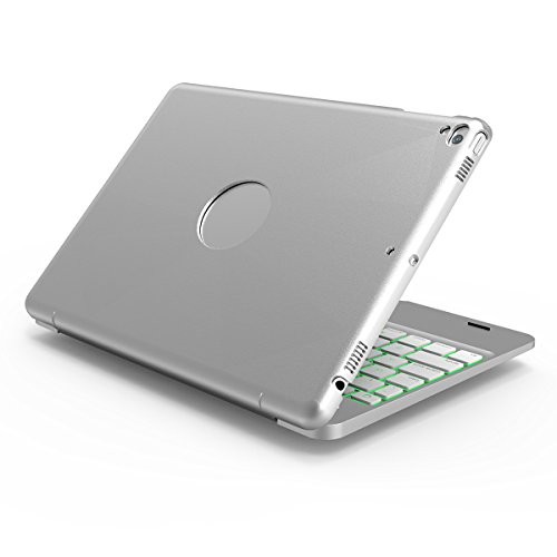 SODIAL Silver For Ipad Pro 9.7 Notebook Flip Cover Bluetooth Keyboard by SODIAL (Image #3)
