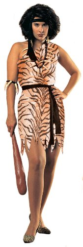 Adult Cavewoman Costumes (Rubie's Costume Women's Cavewoman Adult Fuller Cut Value Costume, Multi, One Size)
