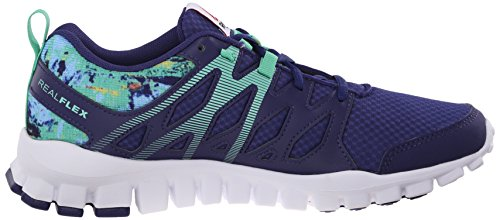 Reebok Womens Realflex Train 4.0 Cross-trainer Shoe Night Beacon / Elettrico Blu / Icono Rosa / Bianco