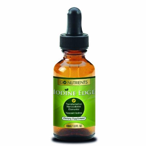 Supplément naissante iode - Grande Puissance gouttes de liquide pour la thyroïde Support - Une bouteille 3 derniers mois - iode bord