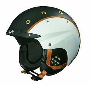 Casco SP-3 Airwolf - Casco de esquí, talla M, 54 - 58 cm, color blanco y negro