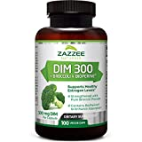 Zazzee DIM 300 mg, 100 Count, Vegan, Plus 10 mg