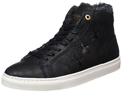 Pantofola dOro Damen Anna Donne Fur Mid Hohe Sneaker Schwarz (Black)