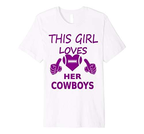 (This Girl Loves Her Cowboys Football T South Beach Womens)