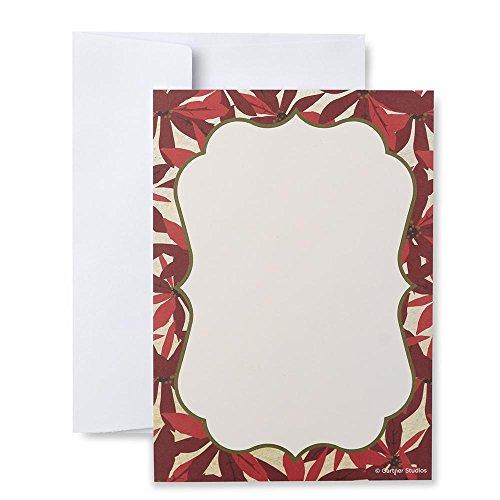 (Poinsettia Print at Home Holiday Invitation Kit)