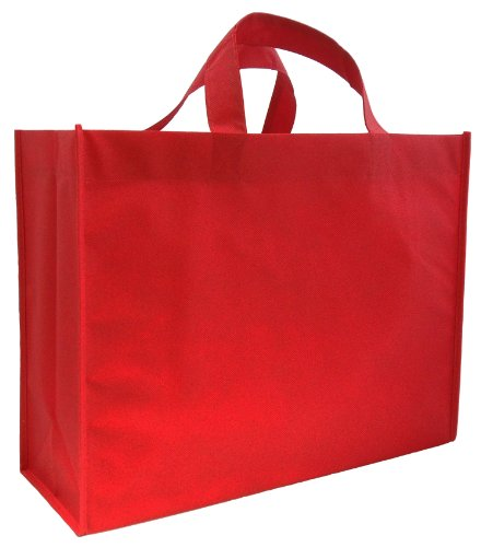 Reusable Gift Bags, Large, Red 6 Pack