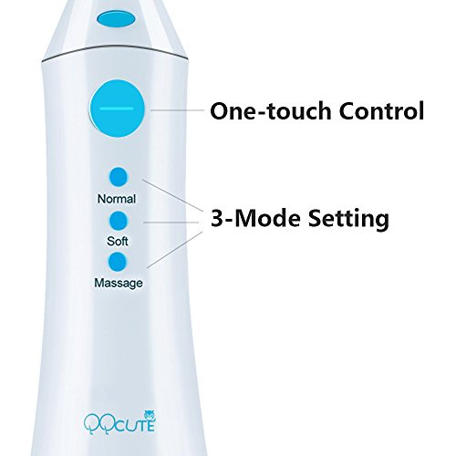 QQcute Water Flosser Cordless Oral Irrigator - IPX7 Portable Rechargeable Tooth Cleaner Whitening With 3 Modes Dental Water Jet Tips, Travel and Home Use by QQcute (Image #5)