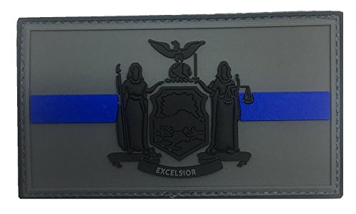 NEW YORK STATE THIN BLUE LINE FLAG PVC PATCH (SUBDUED)