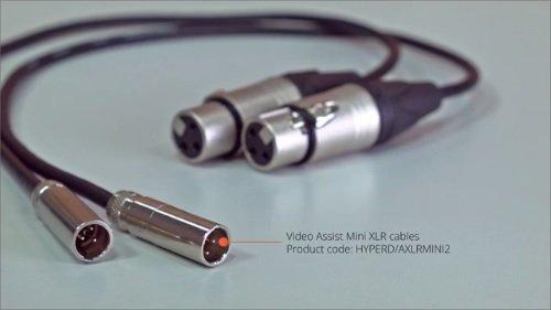 Blackmagic Design 19.5 Mini XLR Cable for Video Assist 4K Camera Monitor, Set of 2
