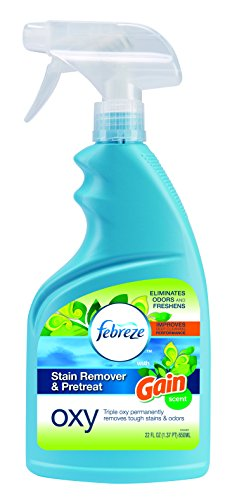 Bissell 1438 Febreze Stain Remover & Pretreat Oxy Spray, 22 oz