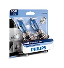 Philips 9007 CrystalVision Ultra Upgrade Bright White Headlight Bulb, 2 Pack