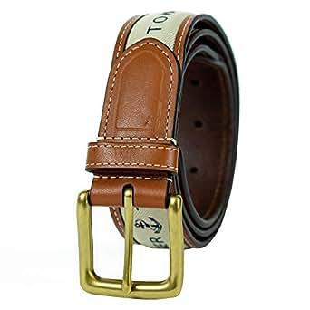 Tommy Hilfiger mens Ribbon Inlay Belt Belt - brown -