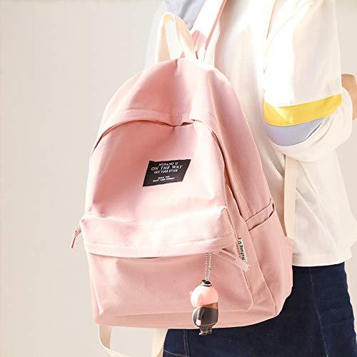 Lona la de Hombro Fresca de Color Bolsa Rosa y para de Bolsa pequeña Mujer Doble para sólido KEROUSIDEN Mujer rosa EqBgwxP5