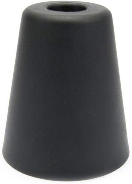 Sossai 1 x Tope de Puerta/Tope de amortiguaction de Puerta NTS8-70 | Model: Hans | Color: Antracita | Proteccion de la Pared apropiada para el Montaje en el Suelo | Material : Plasctico (TPE)
