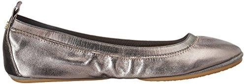 Yosi Samra Samara Metallic Flat 2.0 W - Bailarinas Mujer Silber (Pewter)