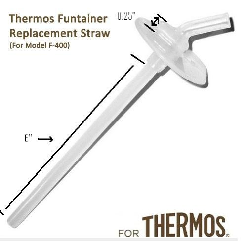 Thermos Funtainer Beverage Bottle Replacement Straw (For F400 Cap) (Thermos Foogo Lid Replacement compare prices)