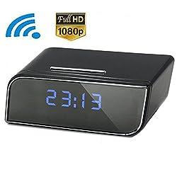 CamRom Security & Surveillance P2P Wifi Pinhole Hidden Alarm Clock Camera Mini Clock H.264 Cameras Mini Camcorder Video Recorder SP8801Z