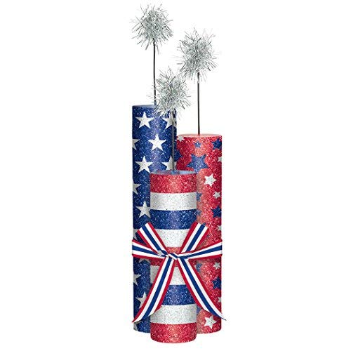 Amscan 280061 Party Supplies Patriotic Fireworks Center Piece 10 1/2