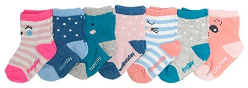 OshKosh BGosh Baby Girls Crew Socks (7 Pack), Days of the...