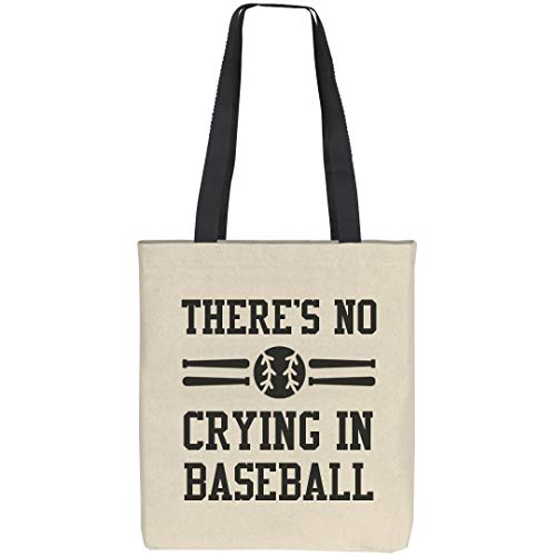 Funny There's No Crying In Baseball: Liberty Bags Tote - Heavyweight Gloves Ohio