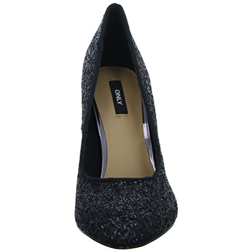 ONLY onlPINA Glitter Pump 15140622 Damen Pumps Schwarz (Schwarz)